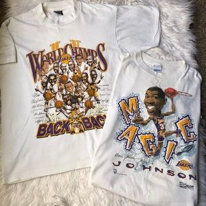 2! Vintage 80's 90's Lakers T-shirts